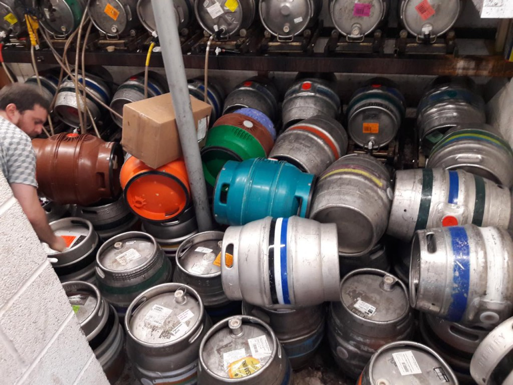Cellar at the Pelican with Beer Festival beers